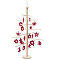 Christmas Tree, Large - red ornaments