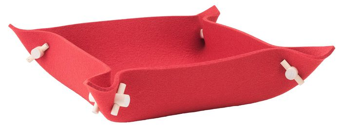 Vati Felt Bowl, Medium red