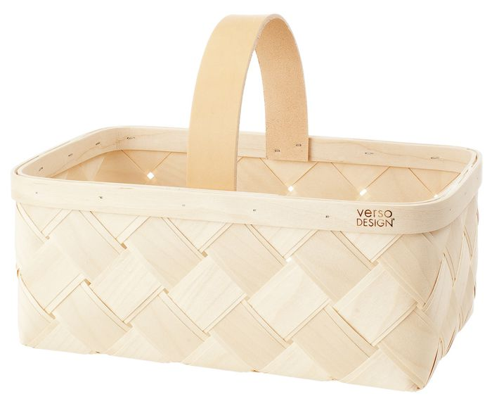 Lastu Mushroom Basket, leather handle