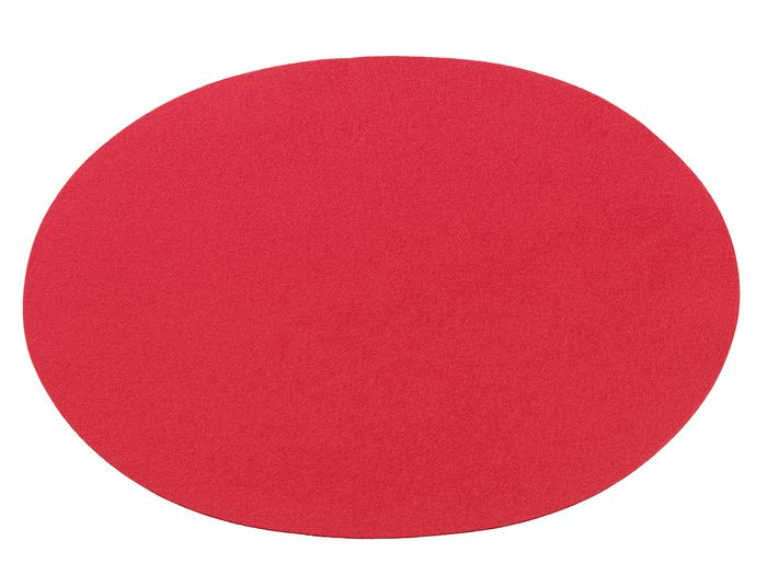 Oval Placemat, red