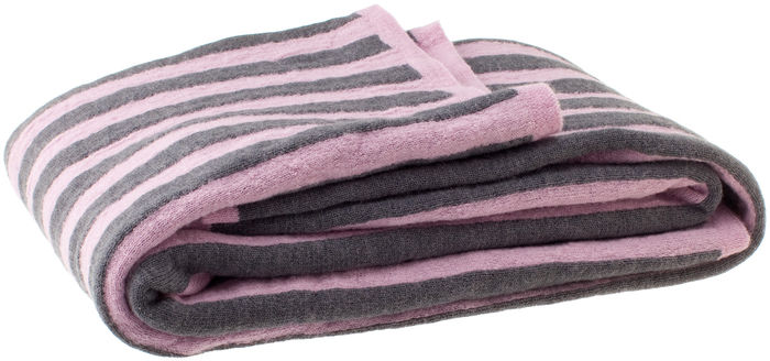 Tarina Throw, Large grey/pink