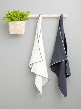LEIJA Towels, 1 white + 1 graphite