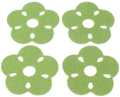 KUKKA Coasters, green (4 pcs)