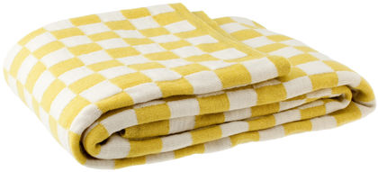 TIVOLI Throw,  white/yellow