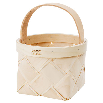 LASTU Berry Basket, leather handle