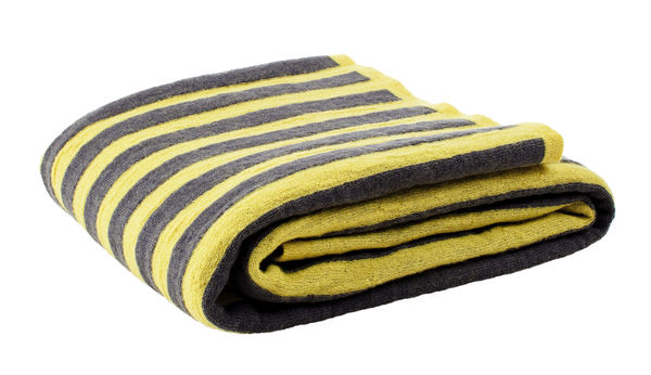 TARINA Throw, grey/yellow
