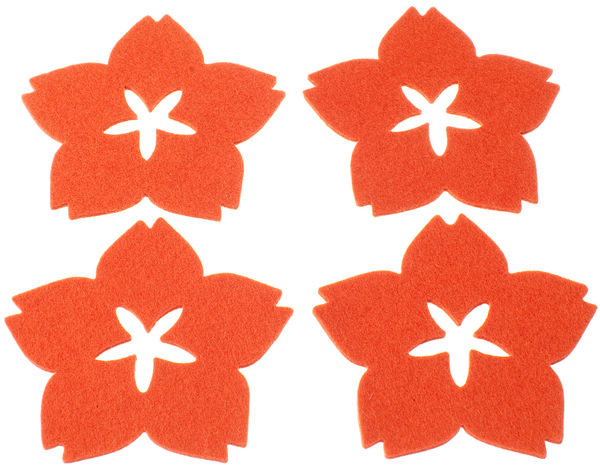KIRSIKKA Coasters, rosehip orange (4 pcs)