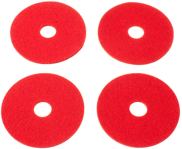 RINKI Coasters, red (4 pcs)