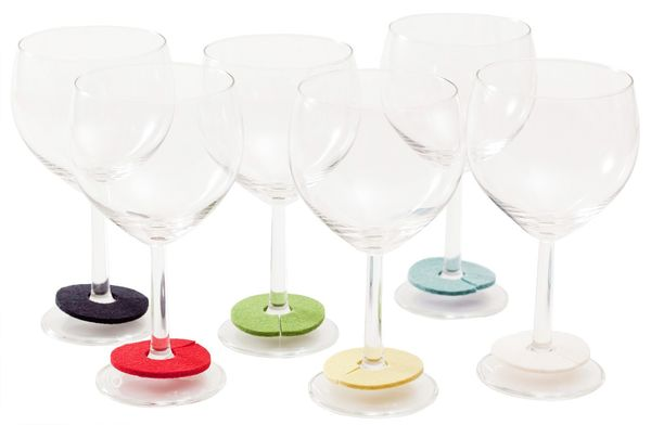 RINKI Wine Charms, bright colours